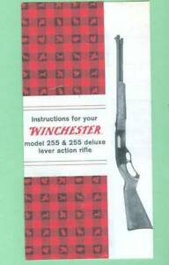 Winchester Model 255 255 Deluxe Owners Manual Reproduction