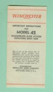 Winchester Model 42 Instruction Manual Reproduction