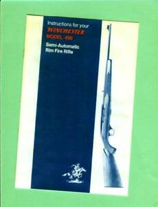 Winchester Model 490 Owners Manual Reproduction