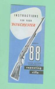 Winchester Model 88 1960 s Owners Manual Reproduction