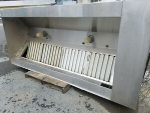 Stainless Steel 9ft Wide Commercial Exhaust Hood