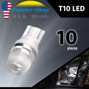 10x T10 Led High Power Dome Map License Interior Light Bulb 192 194 168 2825