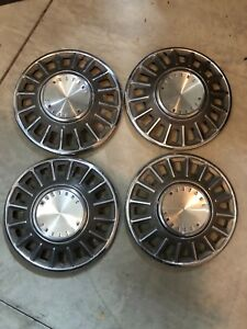 1968 Ford Mustang Original 14 Hubcaps Wheelcovers Good Condition