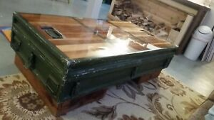 Custom Aluminum Military Rocket Missle Crate Case Lined With Old Growth Redwood