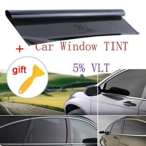Vlt 5 Uncut Roll 39 X 20 Ft Window Tint Film Charcoal Black Car Glass Office