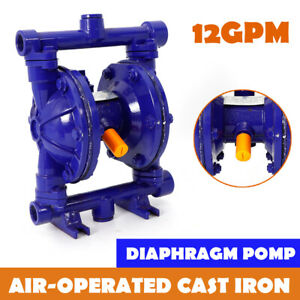 Air operated Double Diaphragm Pump Cast Iron 12gpm 1 2 Inch Inlet