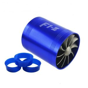 Double Blue F1 Z Turbo Fan Air Intake Supercharger Fuel Gas Saver Fan