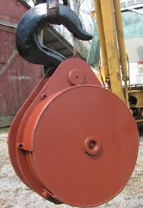 20 Ton Crane Hook Block 4 Sheaves 16 Dia With 5 8 Cable Groove