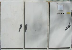 Electrical Enclosure Cabinet 3 Door W Disconnect And Back Panels