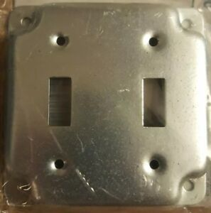 Hubbell Raco 803c 4 Exposed Work Covers Lot Of 10 For 2 Toggle Switches