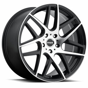 4 New 20x8 5 Rsr R702 Black Machine 5x120 30 Wheels With Free Lug Nuts