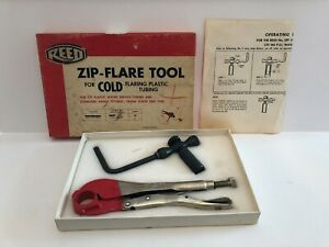 Reed Zip Flare Tool Cold Flaring Plastic Tubing Cib Sfpe 1 cts 160 Psi In Box