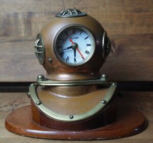 Quartz Navy Divers Helmet Mark V Brass Copper Antique Diving Helmet 9 Replica