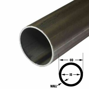 E r w Steel Round Tube 2 000 2 Inch Od 0 083 Inch Wall 72 Inches