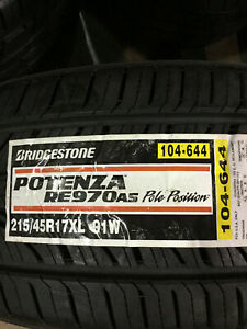 4 New 215 45 17 Bridgestone Potenza Re970 As Pole Position Tires