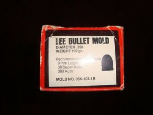 Lee Bullet Mold 9mm # 356-102-1R! 102 gr 9mm with handles