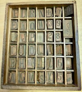 Engraving Brass Font Letters Numbers Wooden Box 172 Piece Lot 101375
