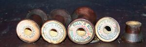 Lot Of 152 Antique Wood Thread Spools Hall S Best Cotton Connecticut