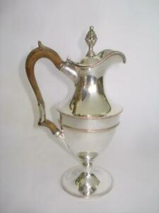 Antique 18th Cent English Sheffield Silver Plate Claret Jug 1780