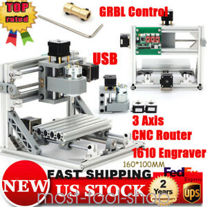 Mini Cnc Router 1610 Engraving Machine Pcb Milling Carving Diy With Grbl Control