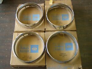 Nos Oem Ford 1966 Mercury Headlight Door Bezels Headlamp Monterey Montclair
