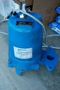 Goulds Water Technology Submersible Sewage Pump Ws1012bhf 1hp 1p 230v Auto Reset