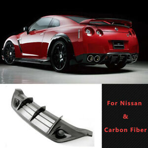 Wald Style Rear Under Diffuser Add on Body Kits For Nissan Gtr R35 Carbon Fiber