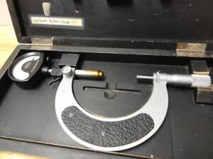 Nice Clean Mahr 2 4 Comparmess Indicating Micrometer 0 0001