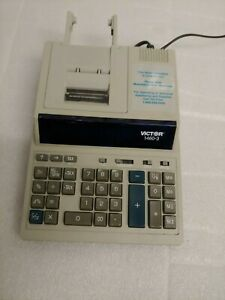 Victor 1460 3 Commercial Print Desk Calculator Dual Color Print 12 Digits Tested