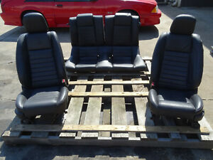 08 Ford Mustang Shelby Gt500 Coupe Front Rear Leather Seats Oem 05 06 07 09 Used