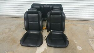 2003 2007 Infinity G35 Coupe Black Leather Interior Seats