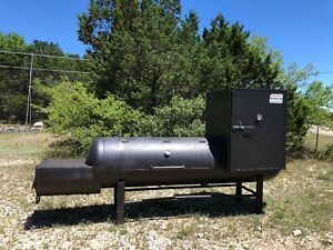 Giant Texas Sized Bbq Pit Smoker 13ft Long Large Smoker Section