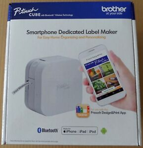 Brother P touch Cube Smartphone Label Maker Bluetooth Wireless W power Adapter