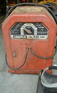 Lincoln Stick 225 Arc Ac Welder Ac 225 With Welding Rods And Helmets
