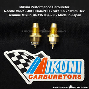 Mikuni 40phh 44phh Carb Needle Valve Size 2 5 Pair 10mm Hex Dat 2000 510 Solex