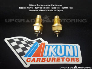 Mikuni 40phh 44phh Perf Carburetor Needle Valve Size 1 5 Pair 10mm Hex Solex