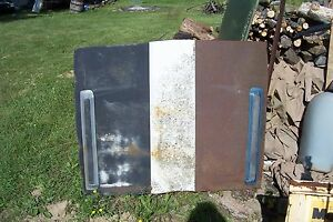 Mopar Used 68 69 Plymouth Road Runner Louver Scooped Hood Cut Out Skin Rat Rod