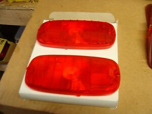A Pair Of 1960 1966 Chevy Pickup Tail Light Lens Nors M 4 719