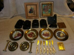Box Lot Of Various Items Estate Sale Items Phone Cases Small Mirror