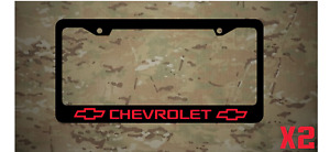 Chevrolet Bowtie Logo Plastic License Plate Frame Decal Vinyl Red Two