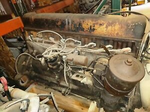1948 Buick Core Engine Assembly Straight 8 Inline Turns Over 122114