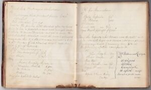 Homeopathic Pennsylvania Small Town Doctor 1860s Rx Medicines Diary Ledger Book