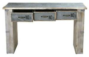 32 In Industrial White Wash Wood And Metal Desk id 3804853