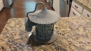 Antique Vintage Cast Iron Arts Crafts Bungalow Wall Sconce Porch Light Fixture