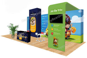 Trade Show Waveline Pop up 20ft X 10ft Fabric Exhibition Booth Xy 03