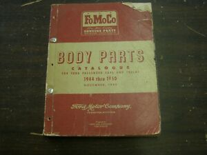 Oem Ford 1944 1950 Car Truck Master Body Parts Book Catalog 1945 1946 1947 1948
