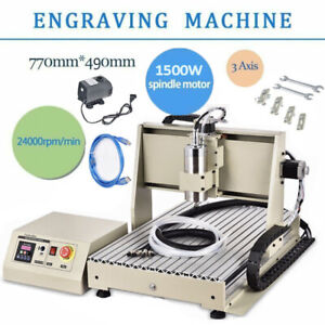 Cnc Router 3 Axis Usb 6040 Engraving Mill Engraver Machine Metal Wood Cut 1 5kw
