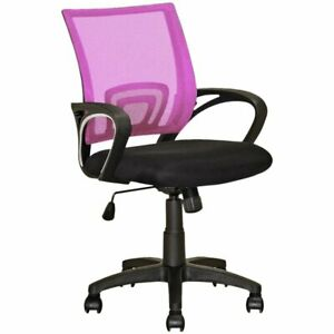 Atlin Designs Mesh Back Swivel Office Chair In Pink And Black