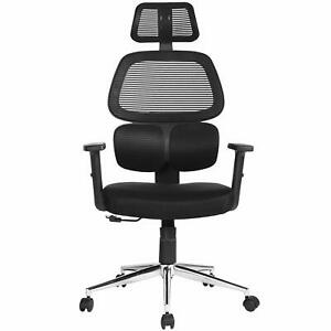 Ergonomic Mesh Lumbar Office Chair High Back Swivel Task Executive Chairs Black