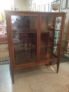 Vintage Display Cabinet Glass Front 2 Doors